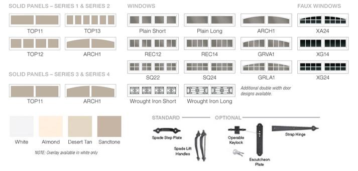 Grand Harbor Door Design Options